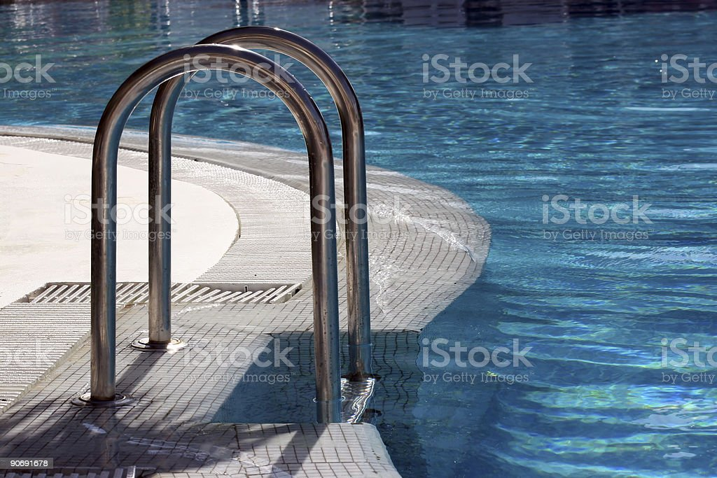 Pool Steps stock photo