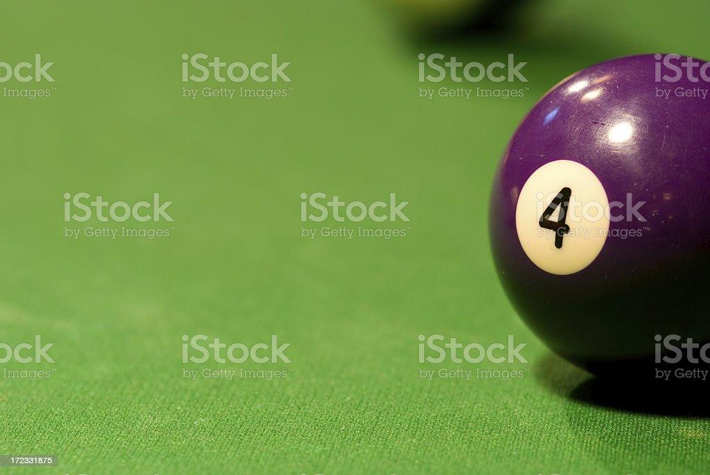 Pool Table - 4 Ball stock photo