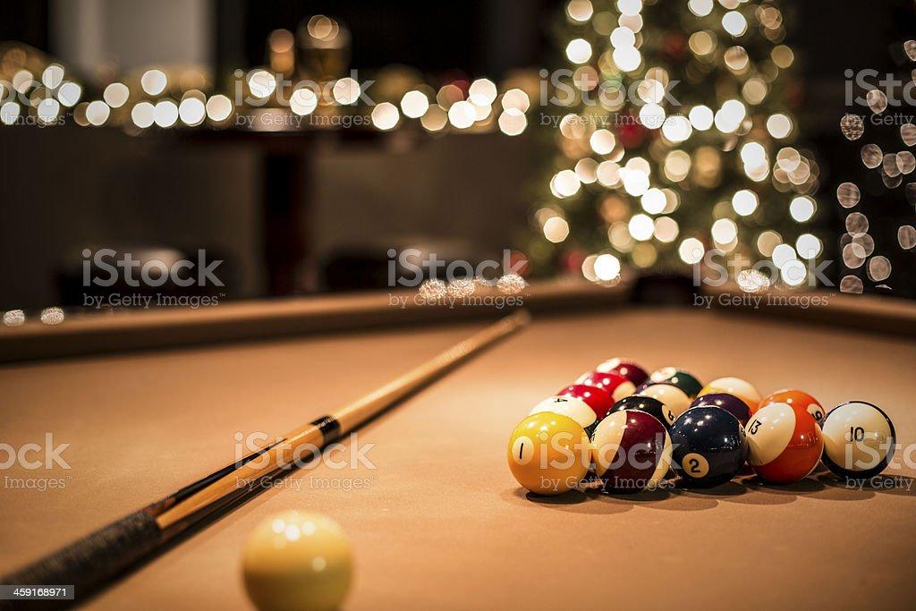 Pool-Tisch in Weihnachten Party Lizenzfreies stock-foto