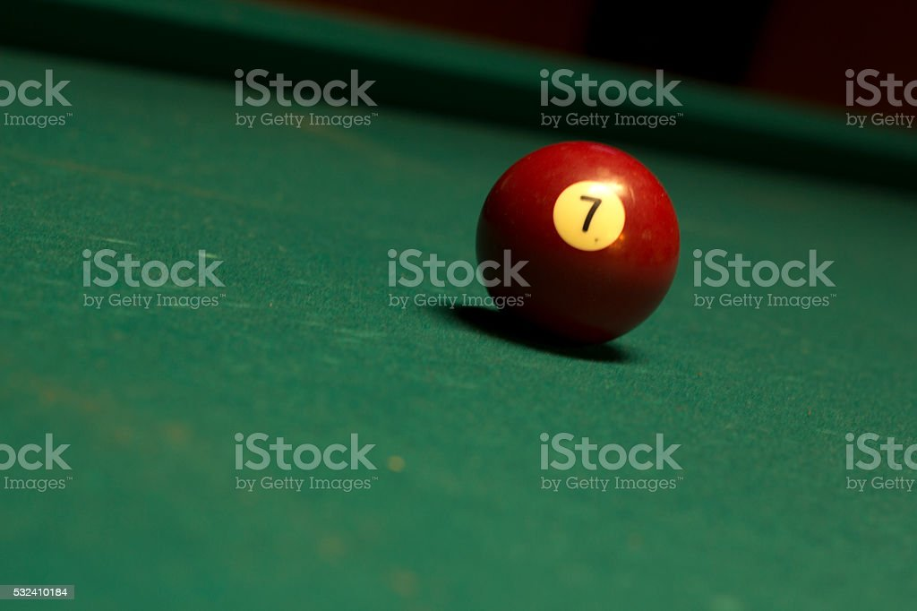 pool table balls stock photo