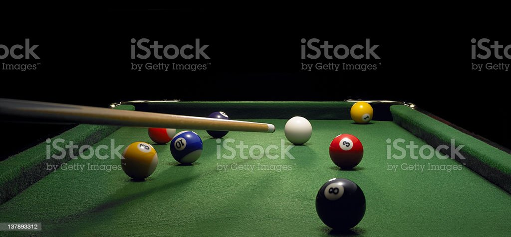 pool table royalty-free stock photo