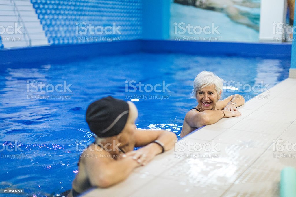 Pool time stock photo