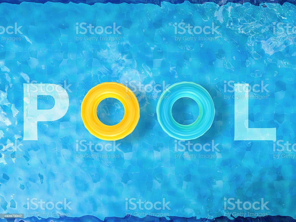 pool top view stock photo