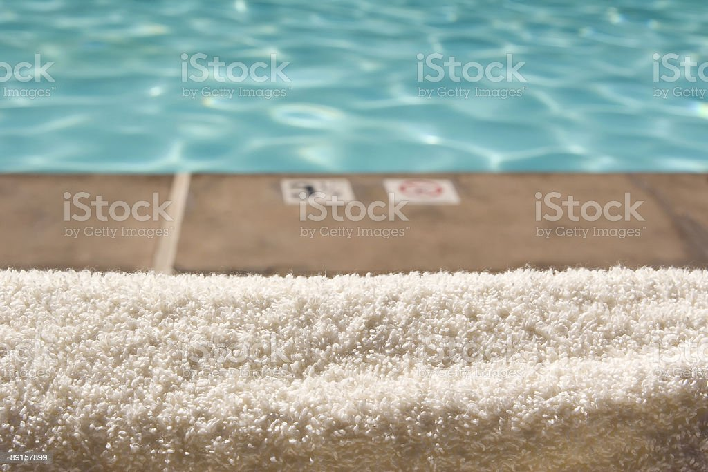 Pool Towel royalty-free stock photo