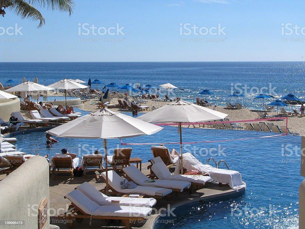 Pool view 3 royalty-free stock photo