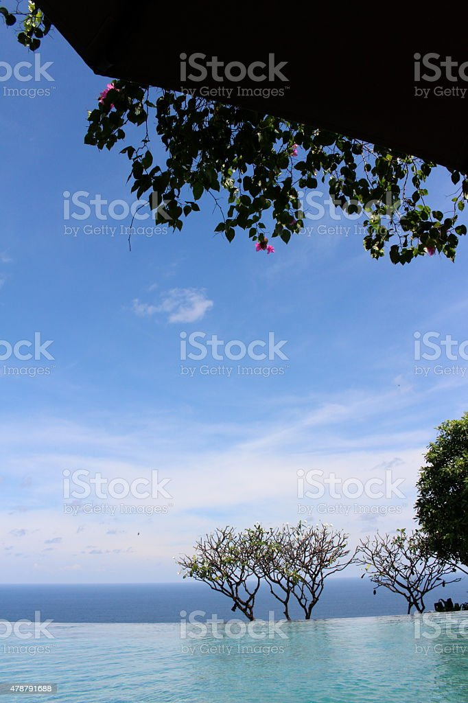 Pool View of Indian Ocean stock photo