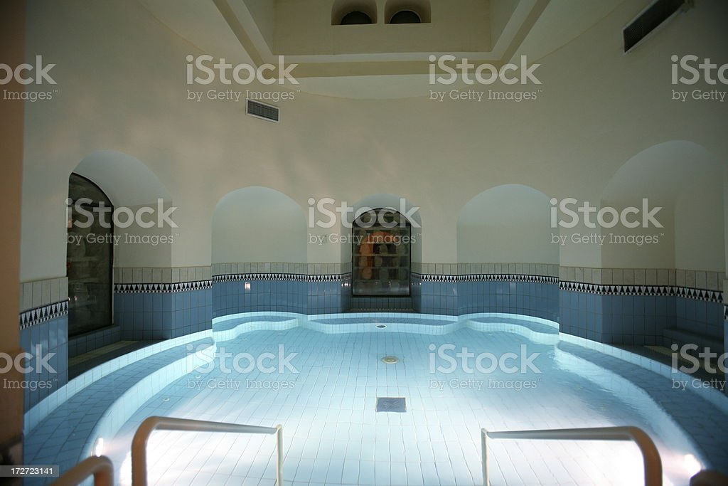 Pool view stock photo