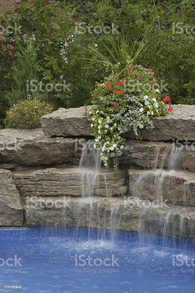 Pool Water Feature royalty-free stock photo