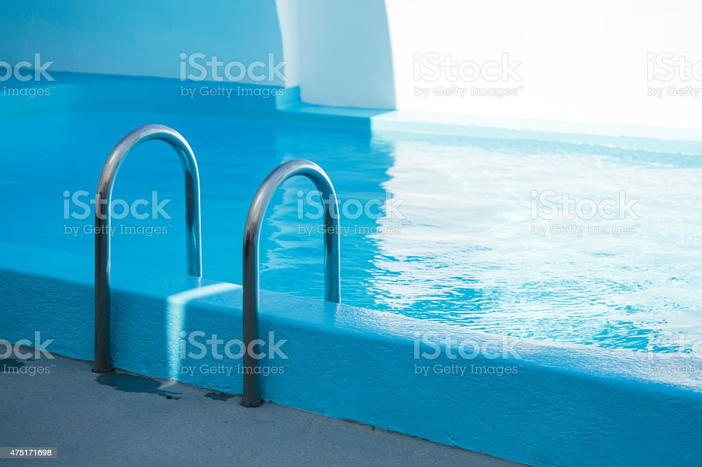 Pool water stock photo