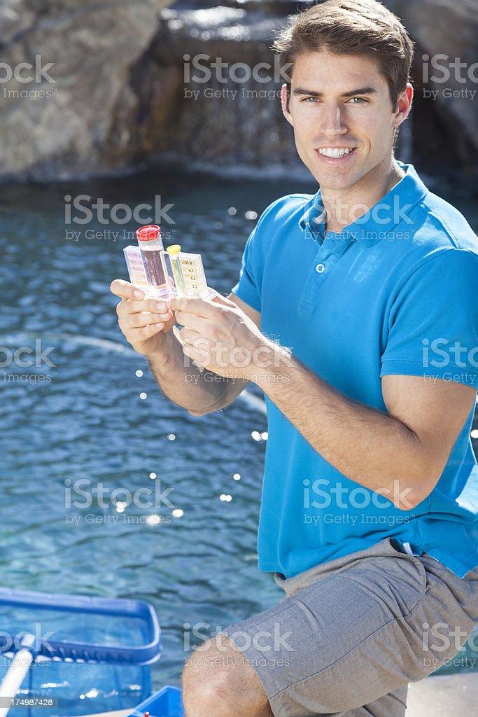 Pool Water Testing royalty-free stock photo