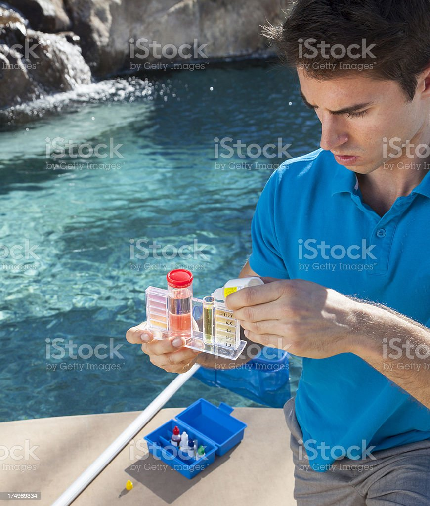 Pool Water Testing royalty-free stock photo