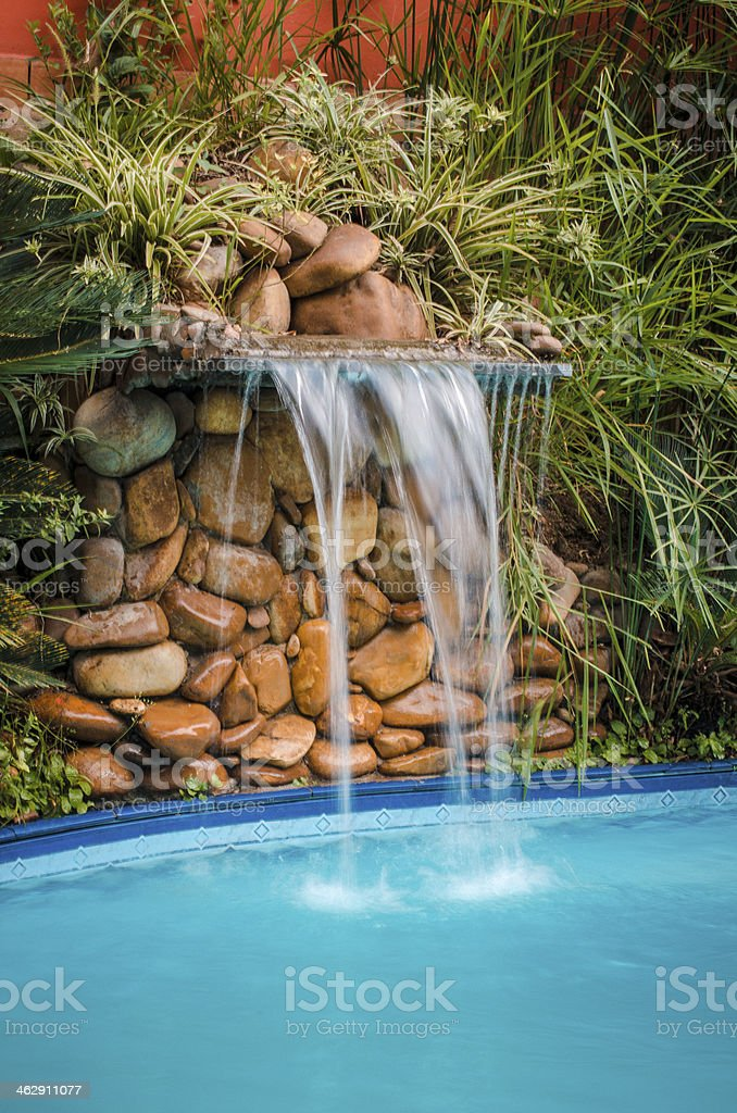 Pool Waterfall royalty-free stock photo