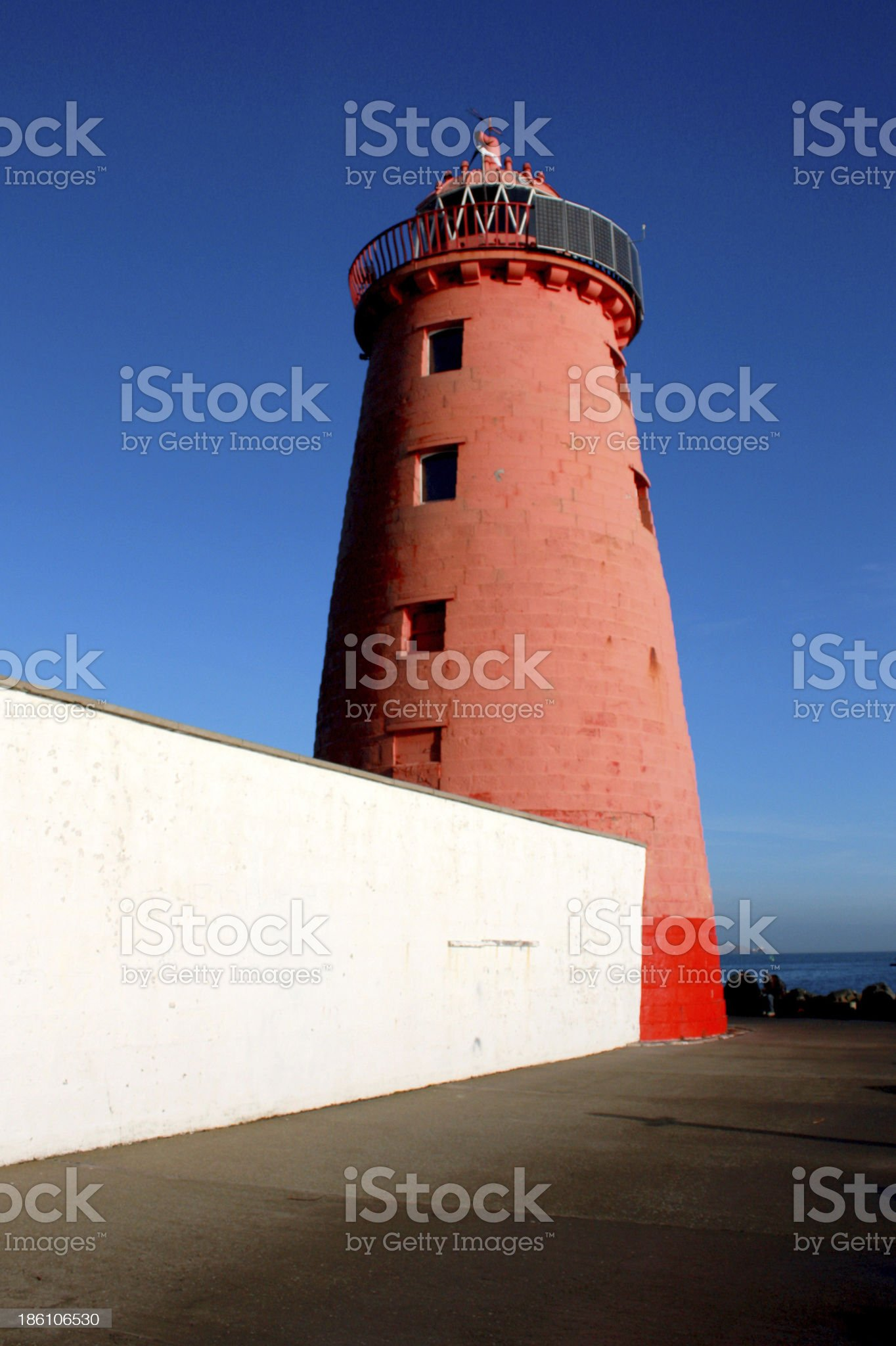 Poolbeg Lighthouse royalty-free stock photo