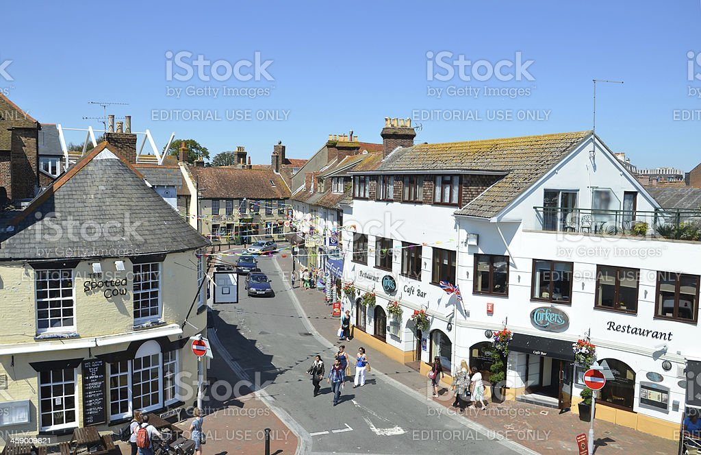Poole Old Town stock photo