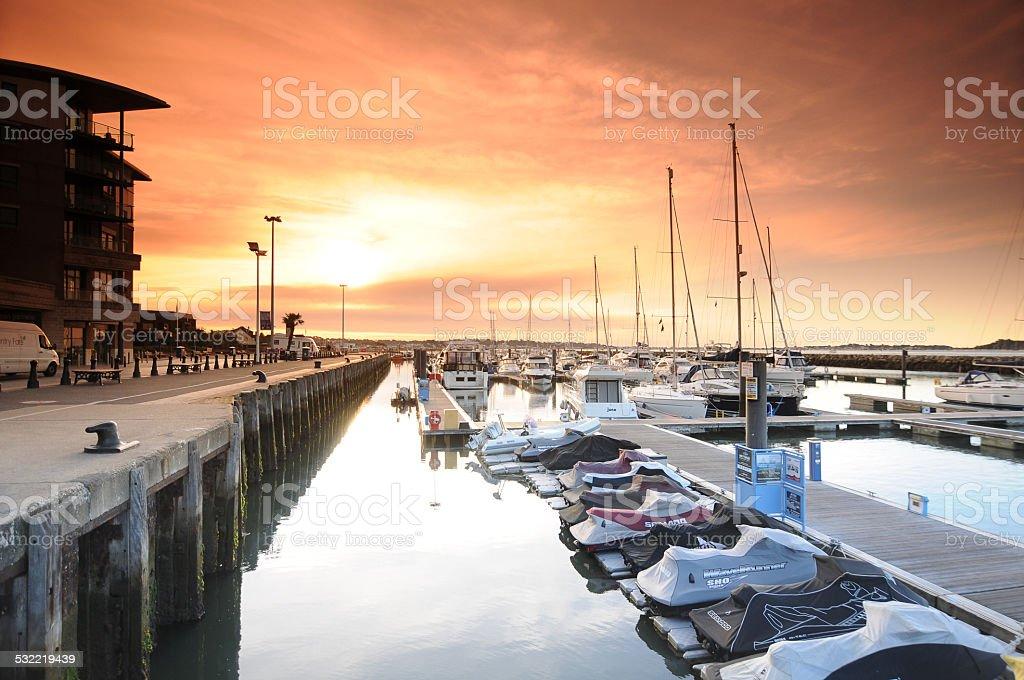 Poole Quay stock photo