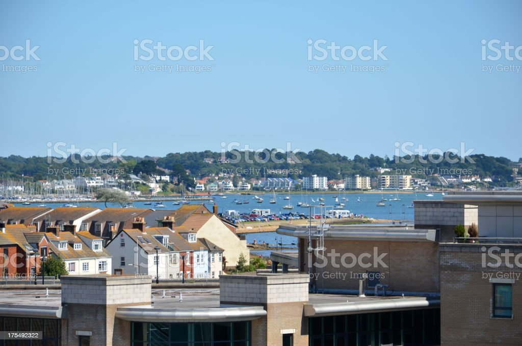 Poole Town and Harbour stock photo