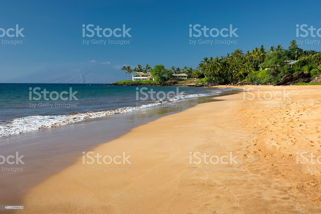 Poolenalena Beach, south shore of Maui, Hawaii stock photo
