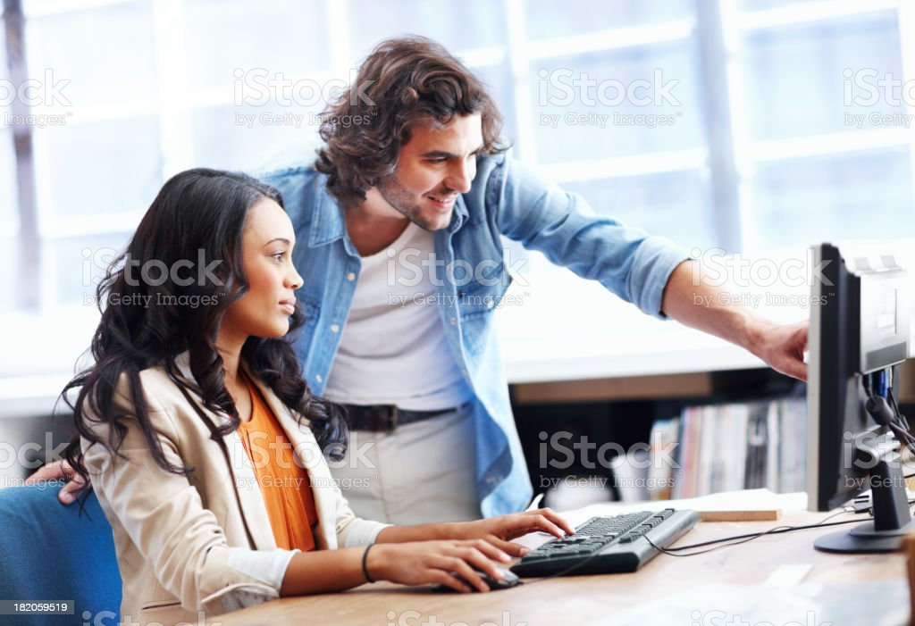 Pooling their ideas for a brilliant design - Architecture royalty-free stock photo