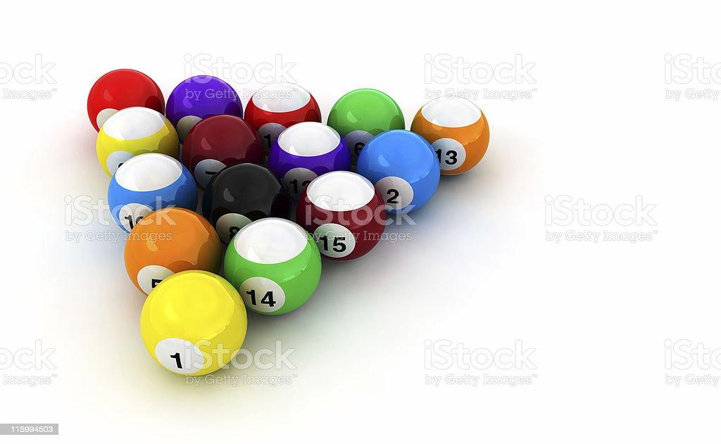 Pools Balls Isolated royalty-free stock photo