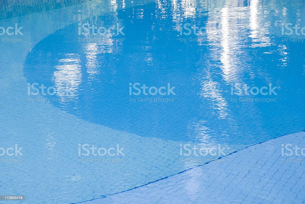Pool's surface royalty-free stock photo