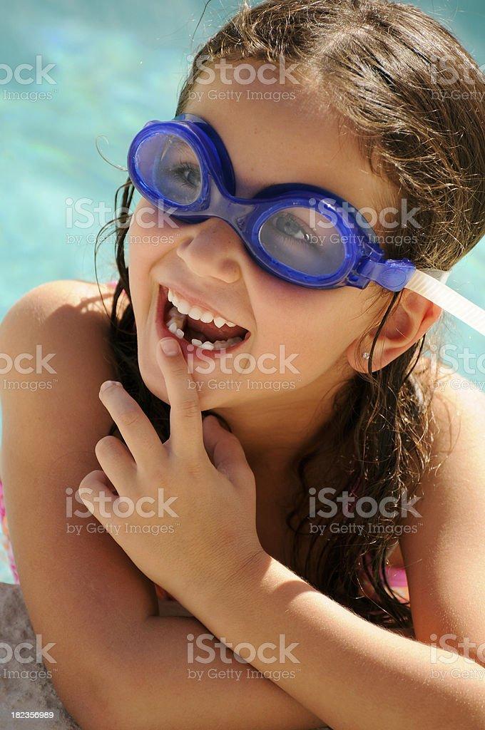 Poolside Cutie stock photo
