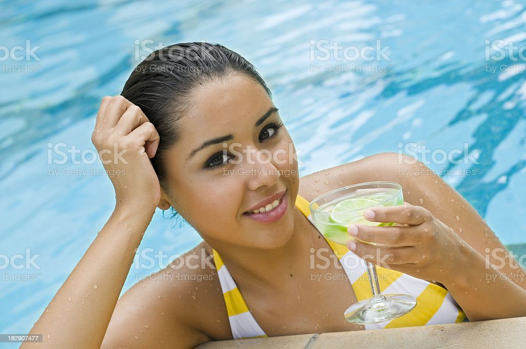 Poolside drinks royalty-free stock photo