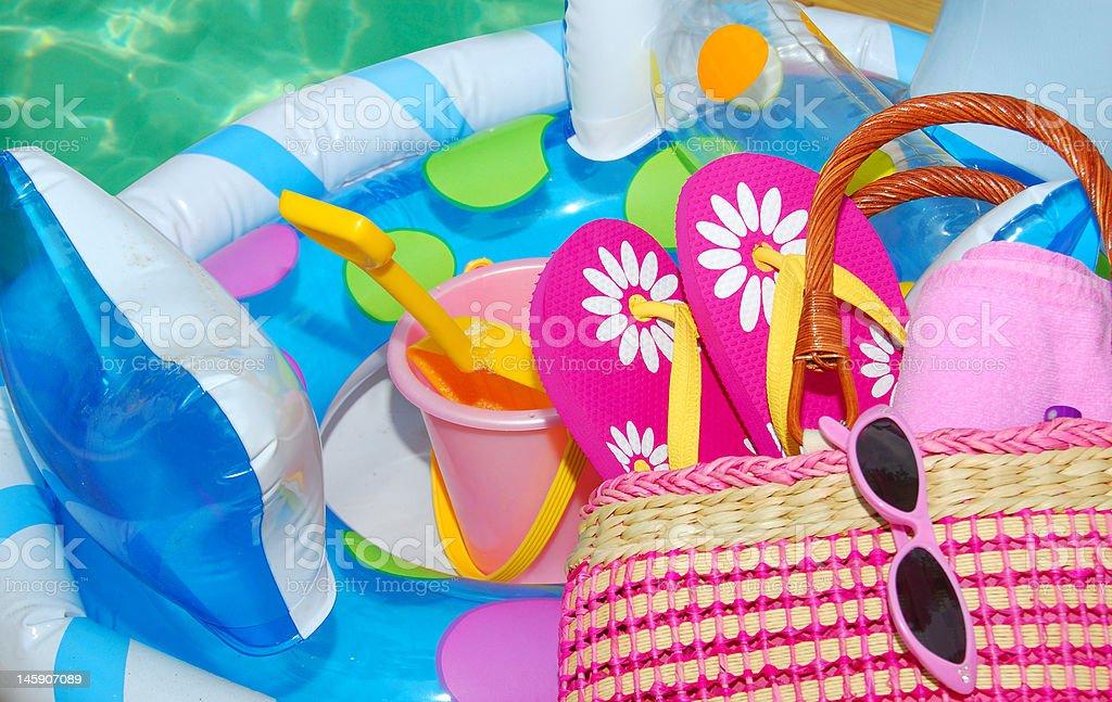 Poolside Fun stock photo