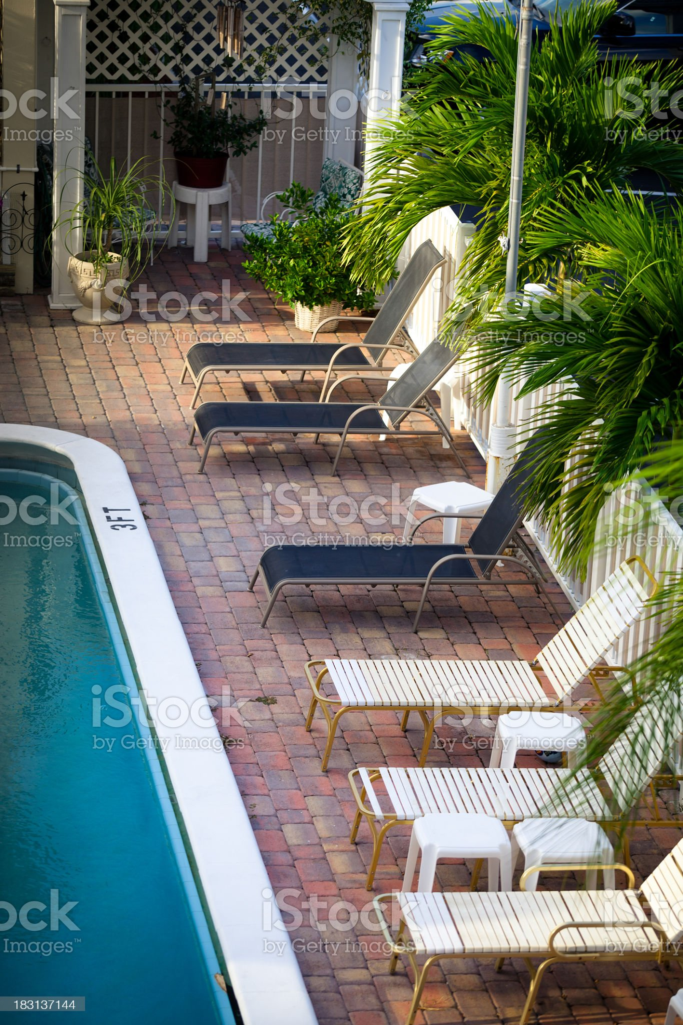 Poolside in Fort Lauderdale royalty-free stock photo