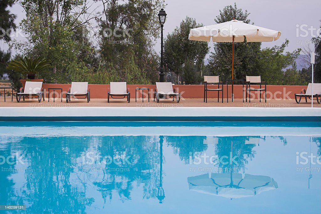 Basen lounge zbiór zdjęć royalty-free