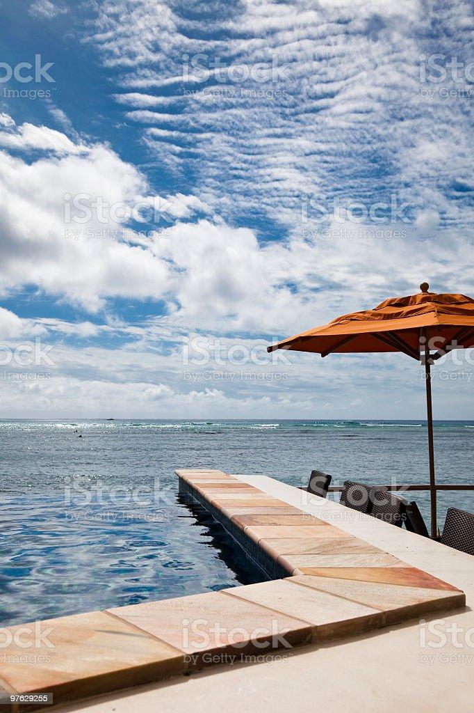 poolside stock photo