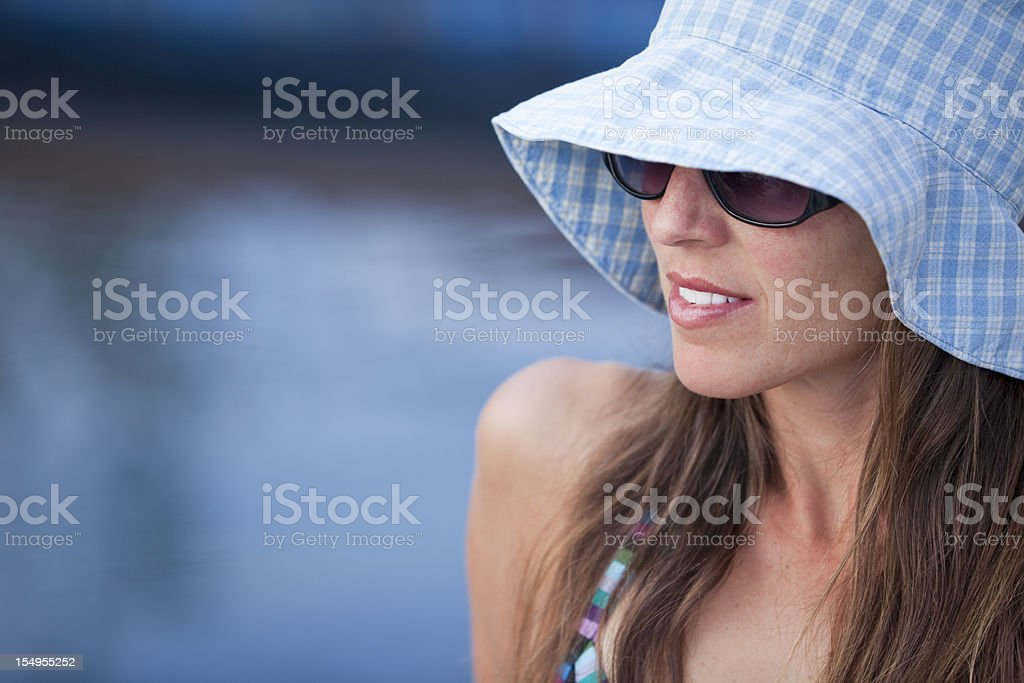 Poolside Stylish Summer Look royalty-free stock photo