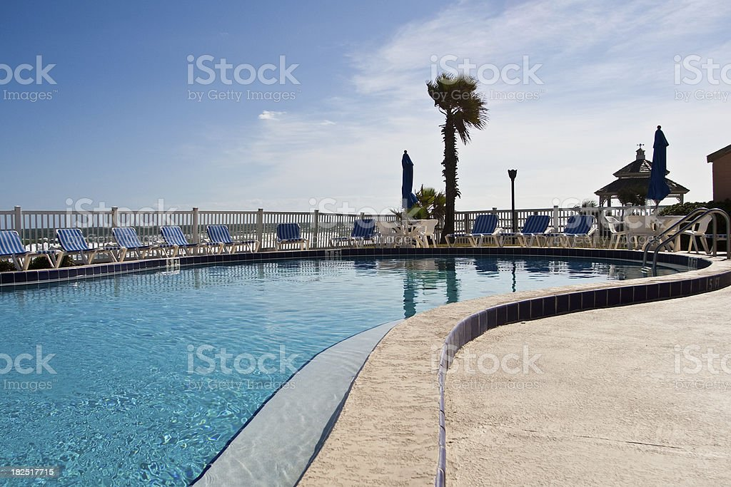 Poolside View royalty-free stock photo