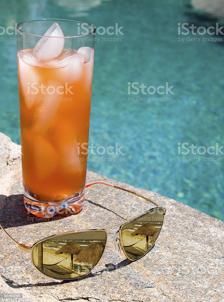 Poolside Visions royalty-free stock photo