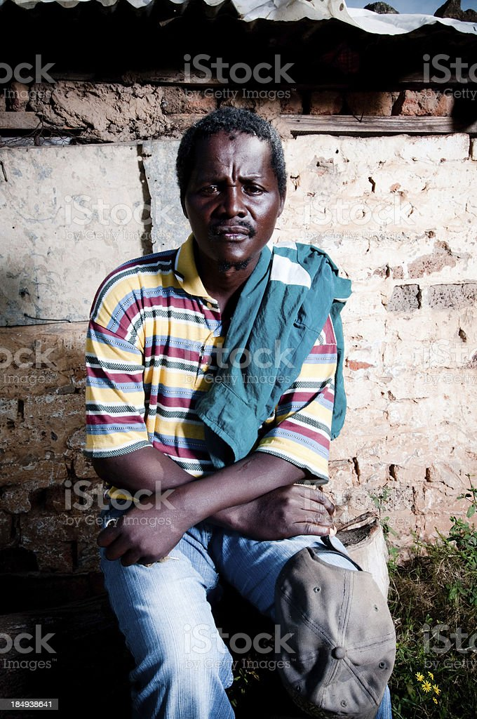 Poor African man royalty-free stock photo