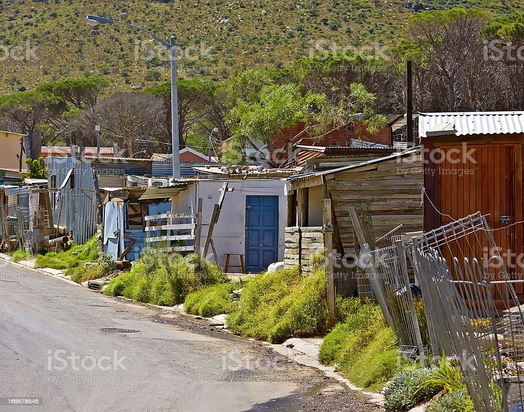 Poor African township stock photo