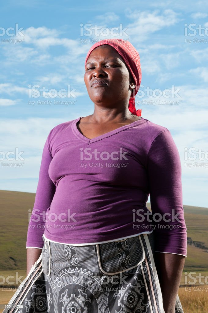 Poor African woman royalty-free stock photo