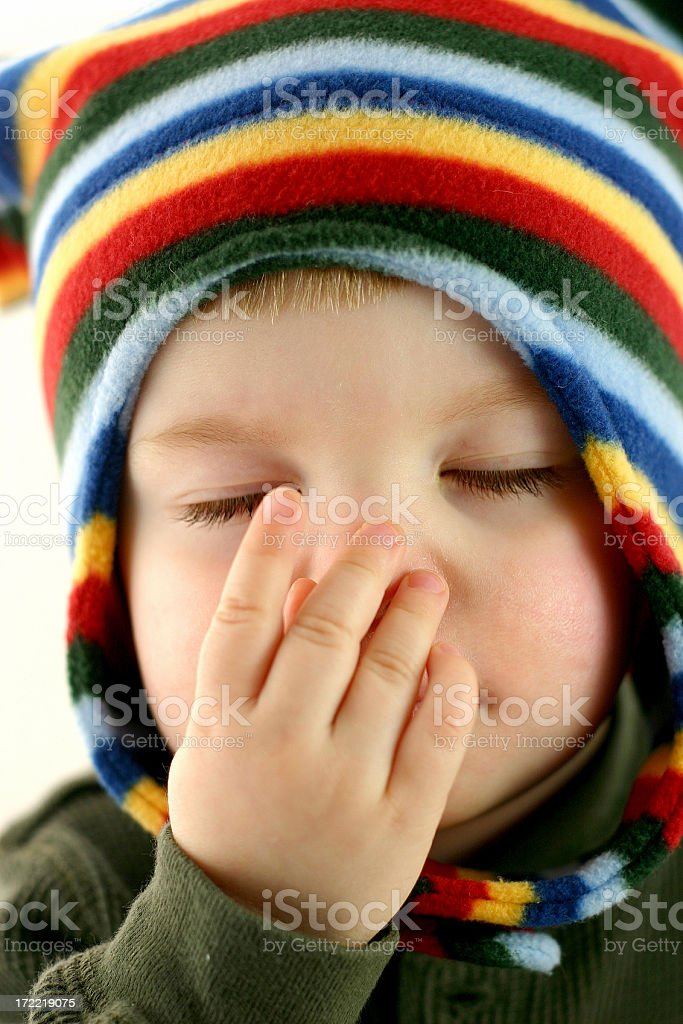 Poor Baby Series: Bless you! stock photo