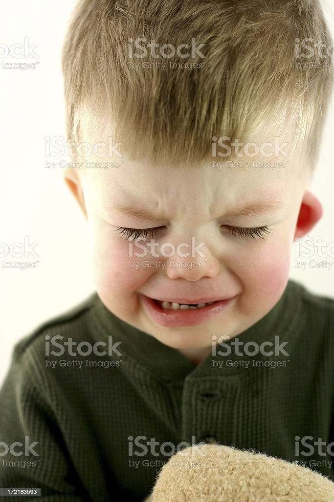Poor Baby Series: Crying. stock photo