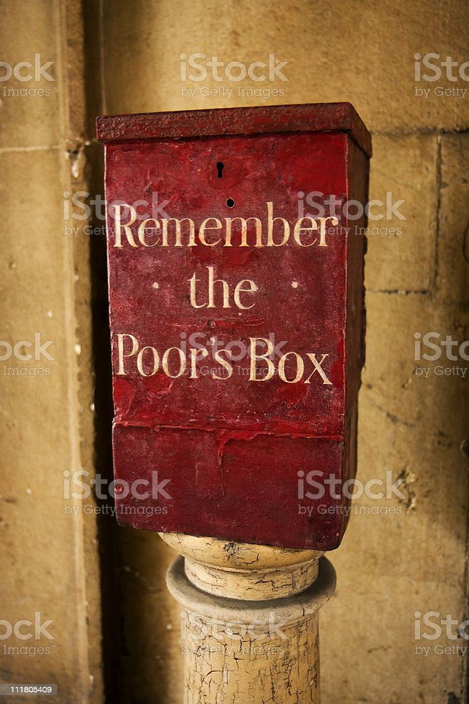 Poor box royalty-free stock photo