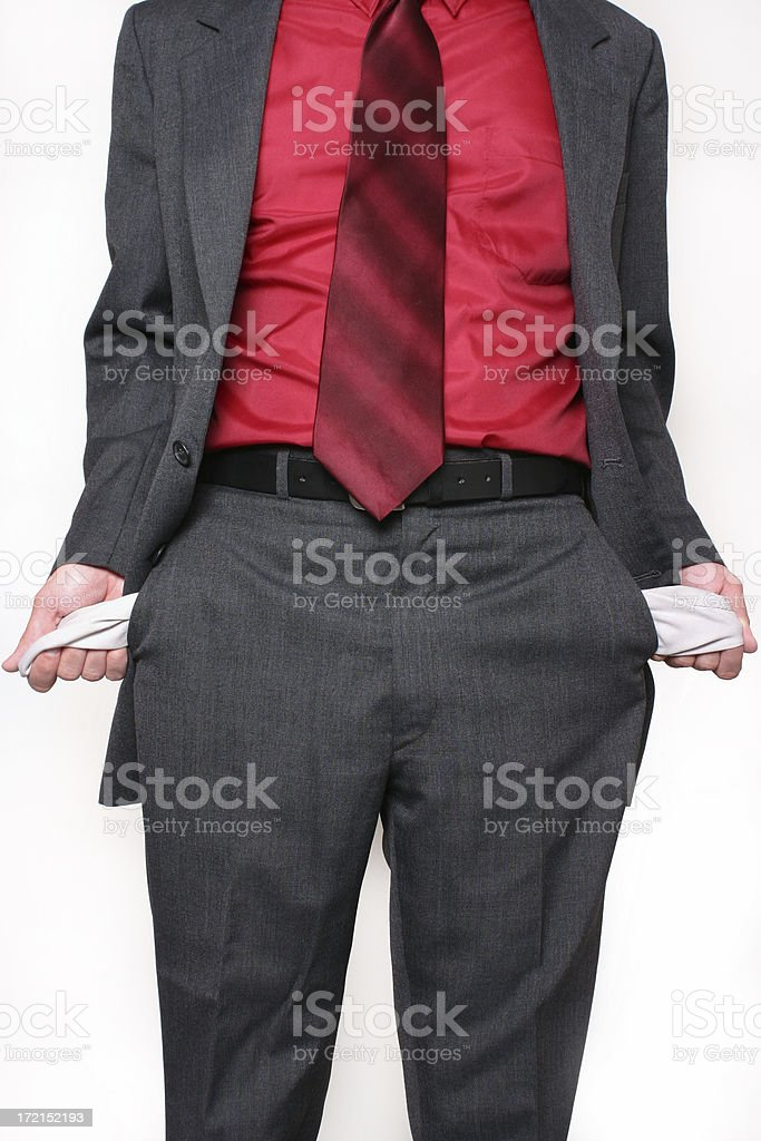 Poor Businessman royalty-free stock photo