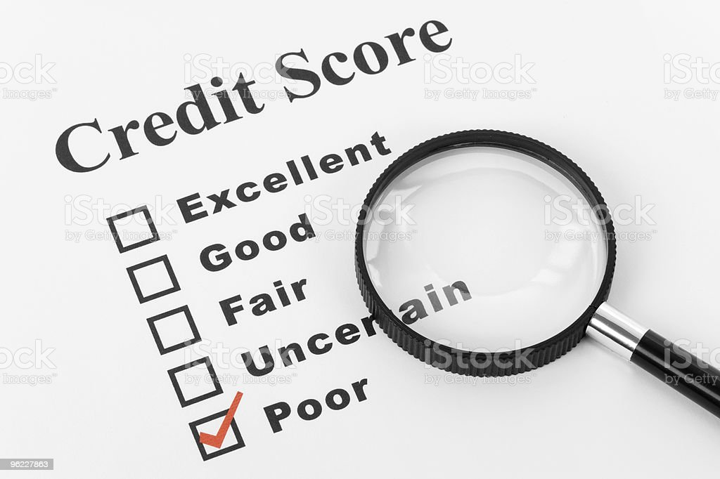 Poor Credit royalty-free stock photo