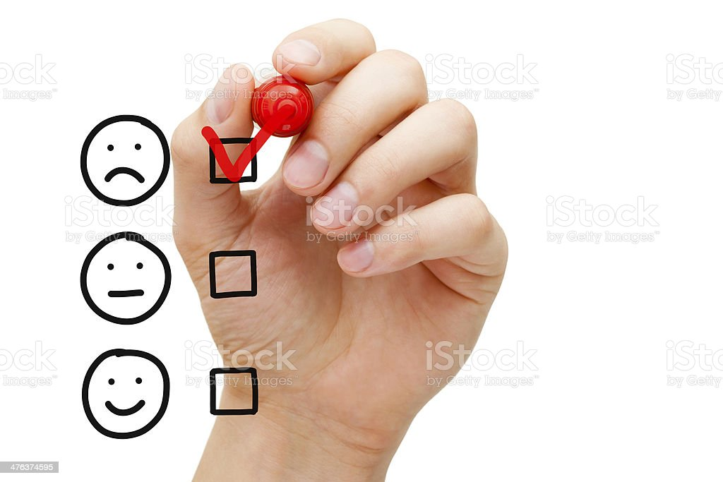 Poor Customer Service Evaluation stock photo