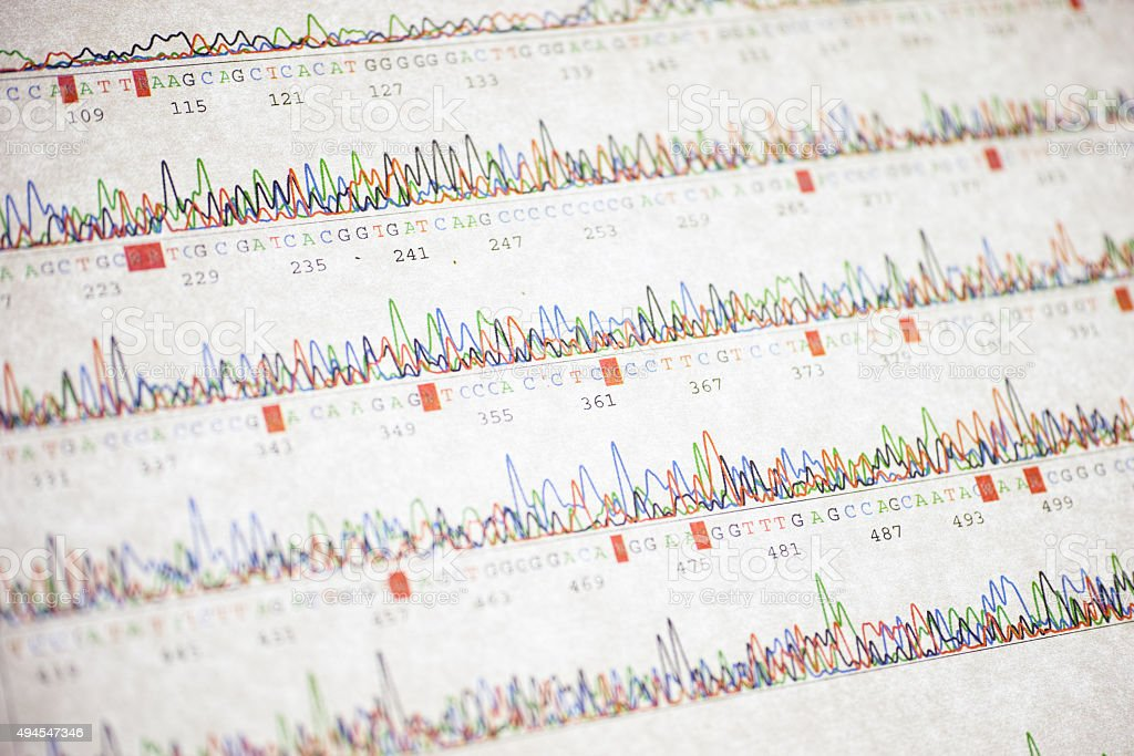 Poor DNA sequencing result stock photo