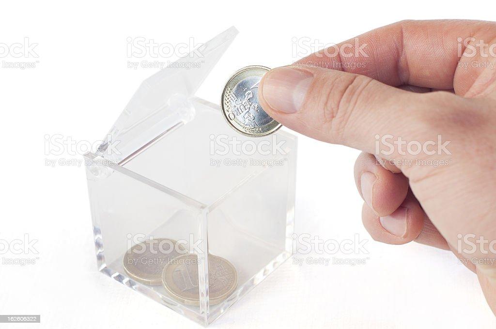 Poor Euro Savings stock photo