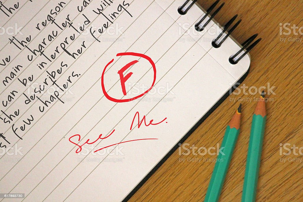 Poor Grades stock photo
