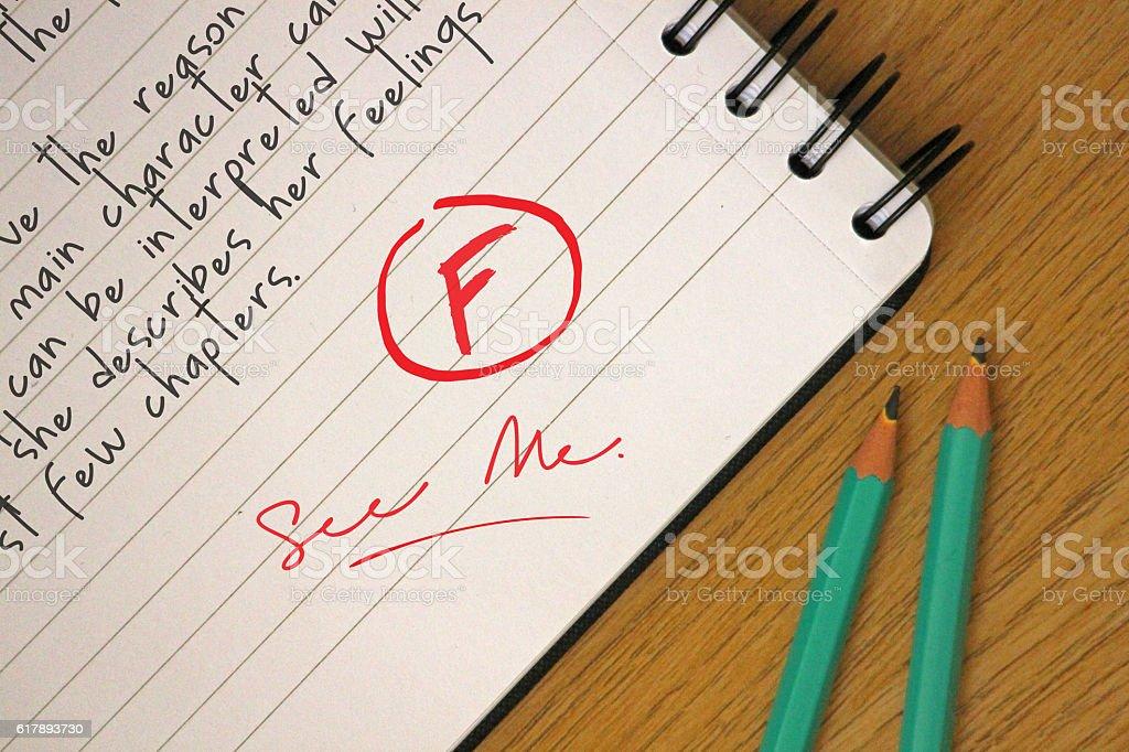 Poor Grades stock photo