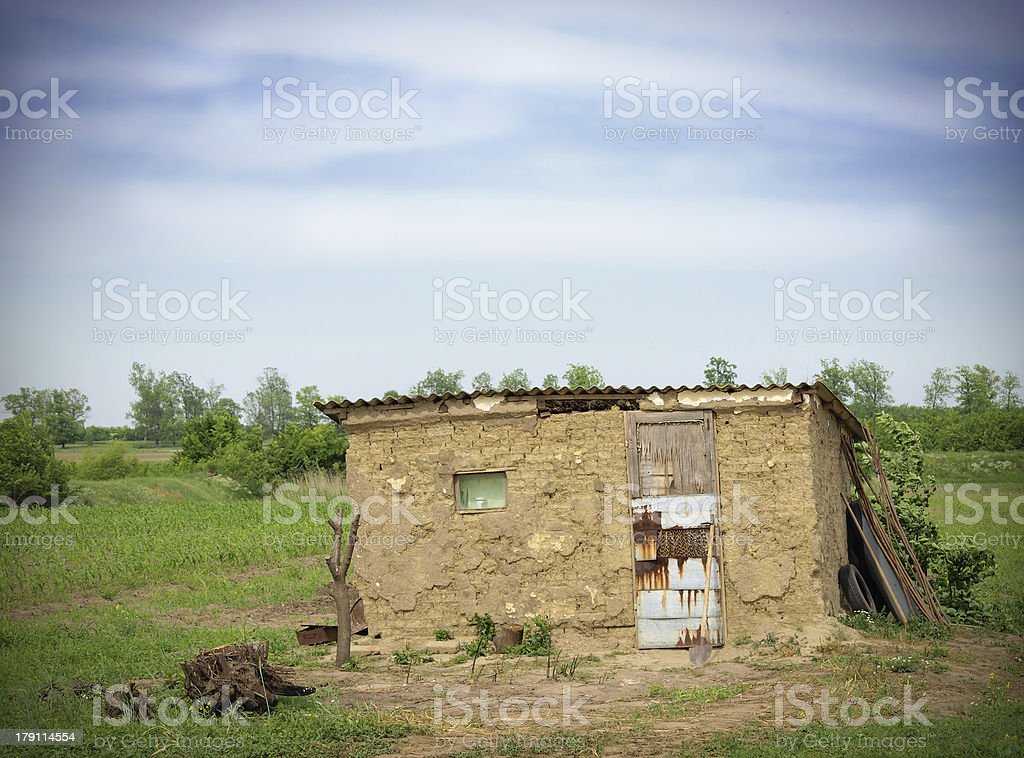 poor house royalty-free stock photo