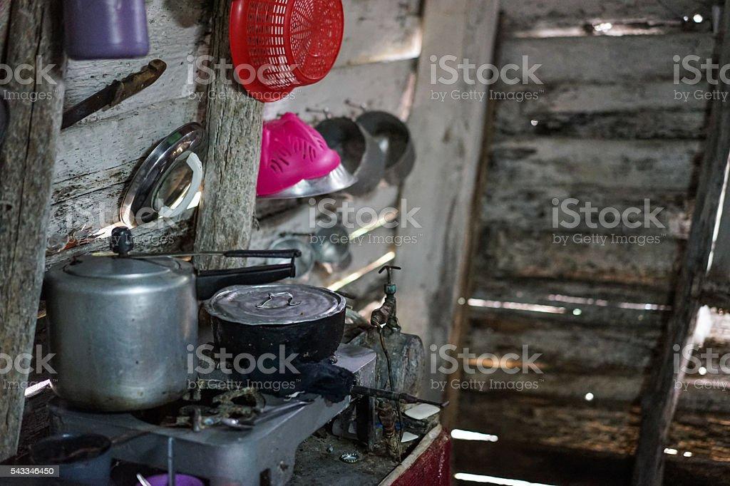 Poor Housing Kitchen stock photo