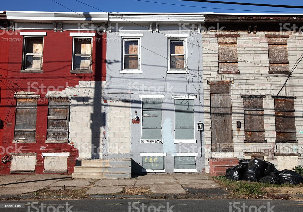 Poor Inner City Neighborhood stock photo