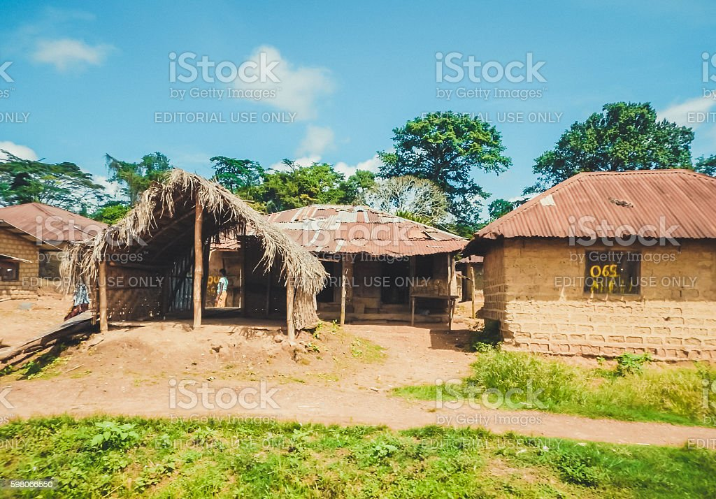 Poor life of the Liberian people. Liberia, West Africa stock photo